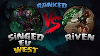 EU West l Singed vs Riven l Elmas ELO