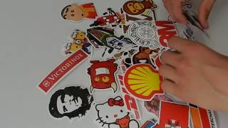 Enjoyed the video ? share it with your friends : http://youtu.be/5lyJfNs2GVc 50 Unique Stickers Skateboard Vintage Vinyl Sticker
