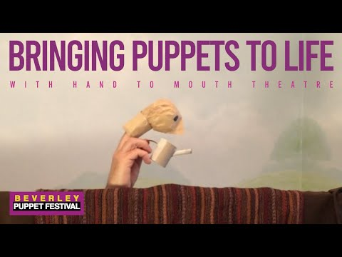 Learn how to BRING PUPPETS TO LIFE with Hand to Mouth Theatre