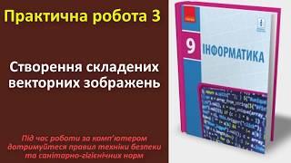 Практична робота 3. Створення складених векторних зображень | 9 клас | Бондаренко