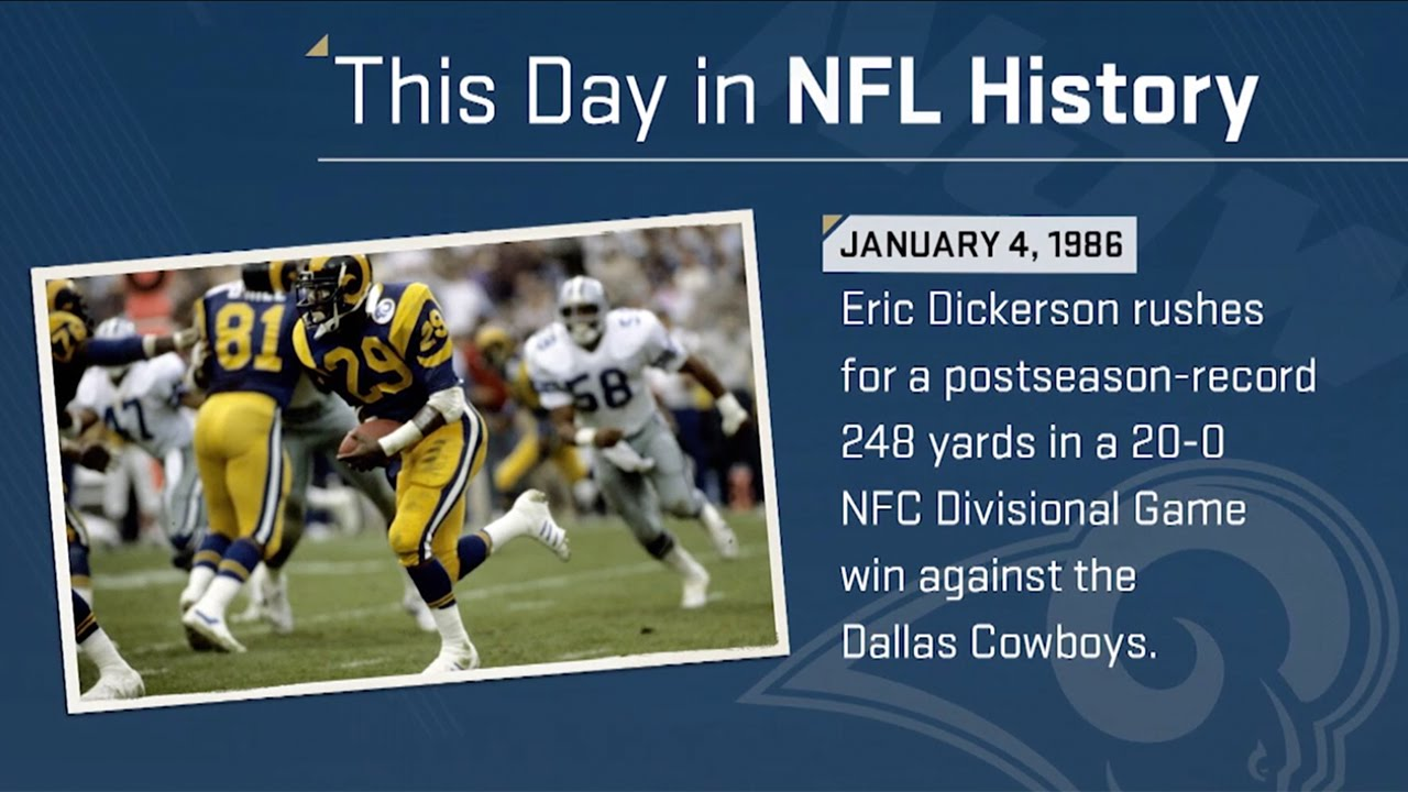 fffbef71b Eric Dickerson Sets Playoff Rushing Record | This Day In NFL History (1/4/86)  | NFL