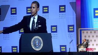 Barack Obama speaks at 2011 HRC National Dinner