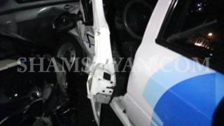 Շղթայական ավտովթար Երևանում  բախվել են Nissan Teana ն, Nissan March ը և Renault Logan ը