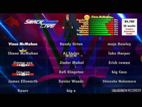 My wr3d SmackDown update roster by gaming world