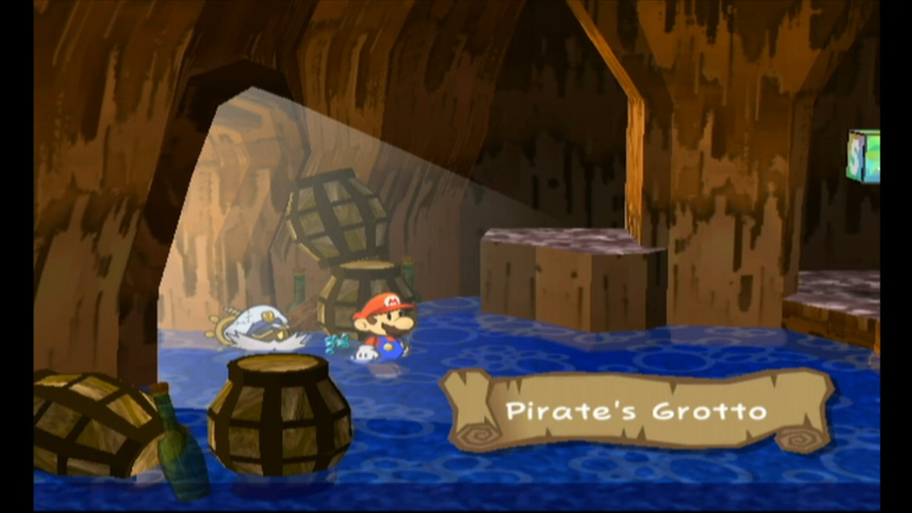 Paper Mario The Thousand Year Door Part 22 Pirate Grotto - YouTube