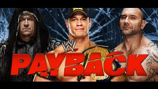 WWE 2k14 Universe Mode - Payback: Undertaker vs John Cena (c) vs Batista - World Heavyweight Title Match Preview