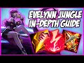 GUIDE ON HOW TO PLAY EVELYNN JUNGLE IN SEASON 9! THE QUEEN OF SOLO Q - League of Legends