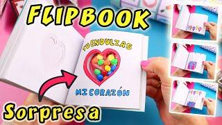 FLIPBOOK CON SORPRESA - Como Hacer Regalo de Amor | Manualidades aPasos