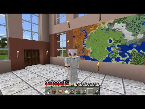 Как сделать большую карту и как повесить её на стену в Майнкрафте