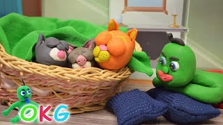 Kitty Cats Stop Motion   Animated Clay Characters   OKG Short Movies
