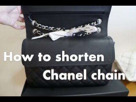 3c9a090257ac90 How to Shorten a Chanel chain...for Chanel flaps / ปรับสายกระเป๋าชา ...
