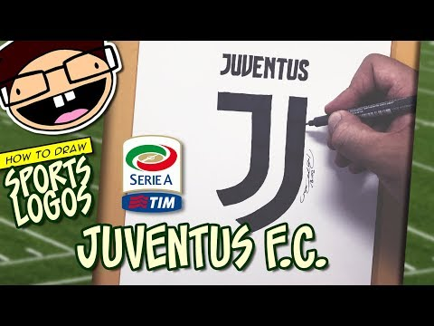 How To Draw The JUVENTUS F.C. Logo (Serie A Football League) | Narrated Easy Step-by-Step Tutorial