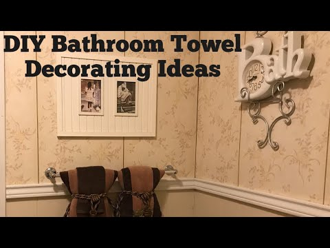 DIY Bathroom Towel Decorating Ideas by Mary Bet