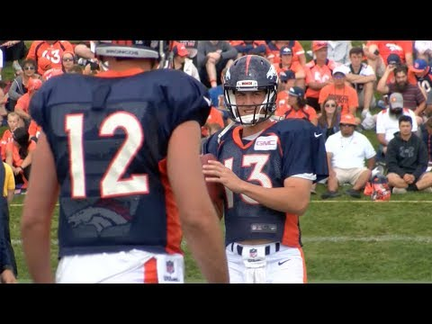 Broncos quarterbacks react to Trevor Siemian being named the starter