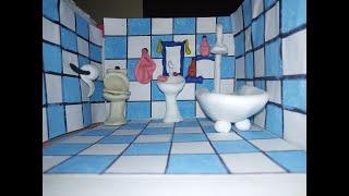 Պլաստիլինե լոգասենյակ...Ванная комната из пластилина...How to make a bathroom with plasticine.