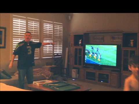 Step Father Reaction Seattle goes to Super Bowl XL