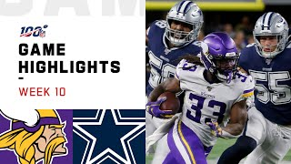 Download Vikings vs. Cowboys Week 10 Highlights | NFL 2019 Mp3 and Videos