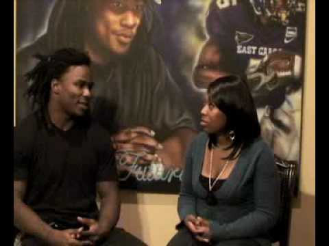Erica Elle Interviews Titans Running Back Chris Johnson (Un-edit Footage)