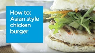 Asian style chicken burger