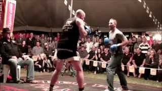 Jimmy Shannon fights challenger -  Outback Fight Club  - Burnett Heads 2015