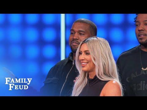 Kim & Kanye cry FOUL! | Celebrity Family Feud