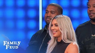 Kim & Kanye cry FOUL! | Celebrity Family Feud