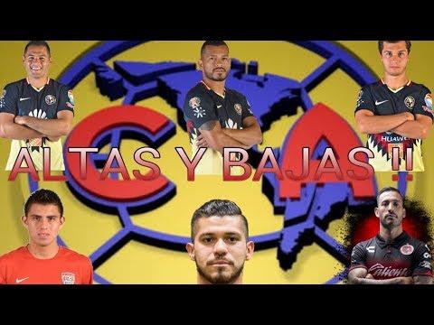 OFICIAL... ALTAS Y BAJAS CLUB AMÉRICA !!