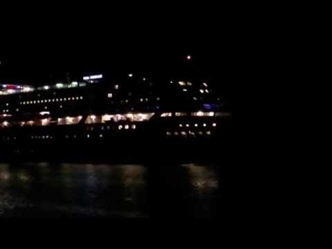 Silja Serenade entering Mariehamn at night 3/10 2016