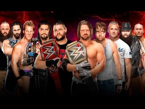 Team Raw vs Team Smackdown 2016 5 vs 5...