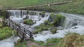 The waterfall of Jaun, Switzerland, a place with natural healing energies