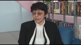 Дина  Мухамедхан.Встреча с молодежью в библиотеке А.С.Пушкина