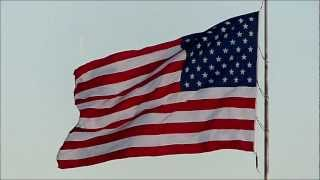 United States Flag in slow motion HD  -Panasonic FZ200 Camera 720p 120 fps