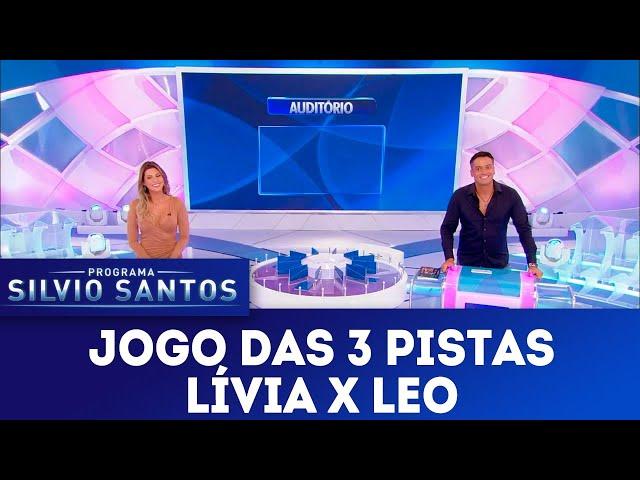 Jogo das 3 Pistas - Lívia Andrade X Leo Dias | Programa Silvio Santos (21/04/19)
