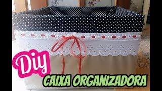 Caixa organizadora feita com caixa de papelão reciclado