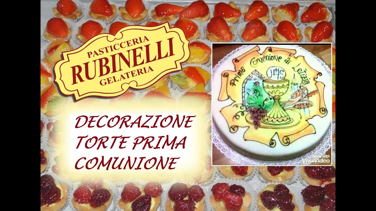 decorazione torte per prima comunione youtube