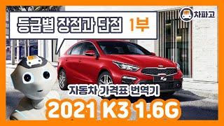 [가격표 번역] 기아 2021 K3!! 등급별 장점과 …