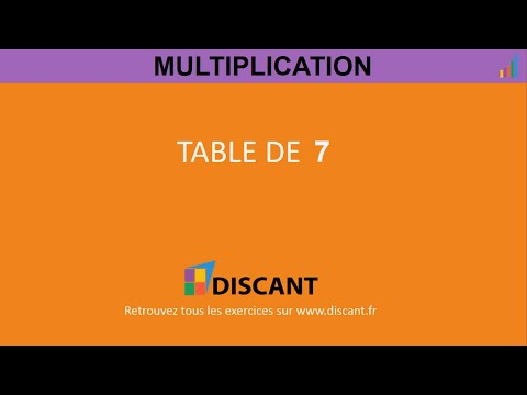 Table de multiplication 7 exercice youtube for Exercice de multiplication