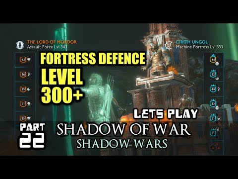 Shadow of War: Shadow Wars! FORTRESS DEFENCE POST CAMPAIGN Ps4 Gameplay Shadow of War