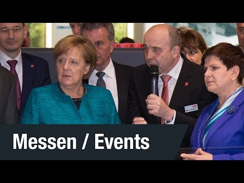 HANNOVER MESSE 2017 Besuch: Dr. Angela Merkel | SEW-EURODRIVE