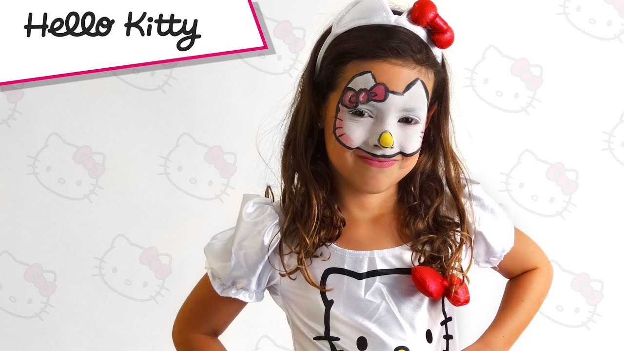 Maquillage Halloween Hello Kitty.Tuto Maquillage Hello Kitty