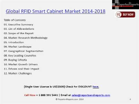 RFID Smart Cabinet Market Analysis & Research Report to 2018