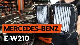 Hoe een interieurfilter / pollenfilter vervangen op een MERCEDES-BENZ E (W210) [HANDLEIDING AUTODOC]