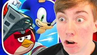 SONIC DASH: ANGRY BIRDS EPIC TAKEOVER (iPhone Gameplay Video)