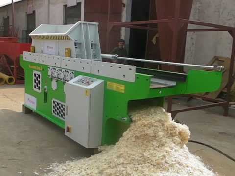 High production industrial wood shaving horse bedding ...