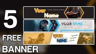 5 Free Youtube Banner Template #13