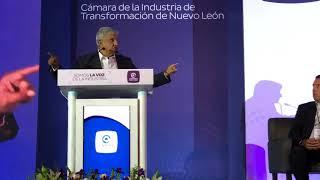 AMLO con empresarios de Nuevo León