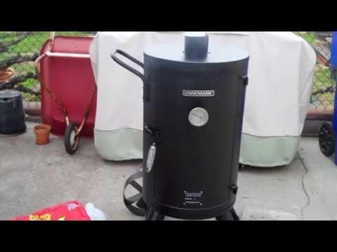 Brinkmann Trailmaster Vertical Smoker First Use