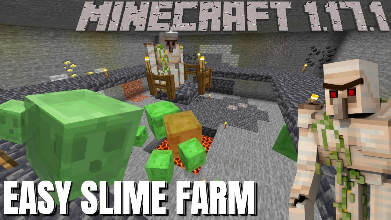 Minecraft Slime Farm for Minecraft 1.17 Cave and Cliffs Update   Easy Slime Farm (Almost No Digging)