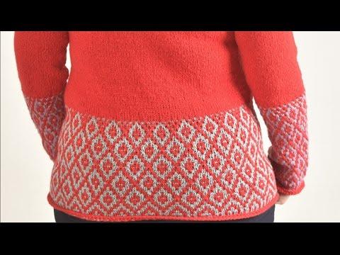Raglan Pullover (RVO) Hebemaschenmuster stricken