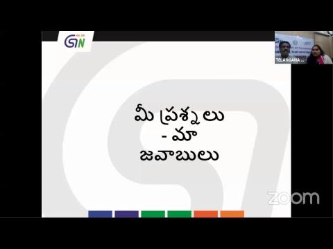 Webinar on Filing of GSTR-1 (in Telugu Language)